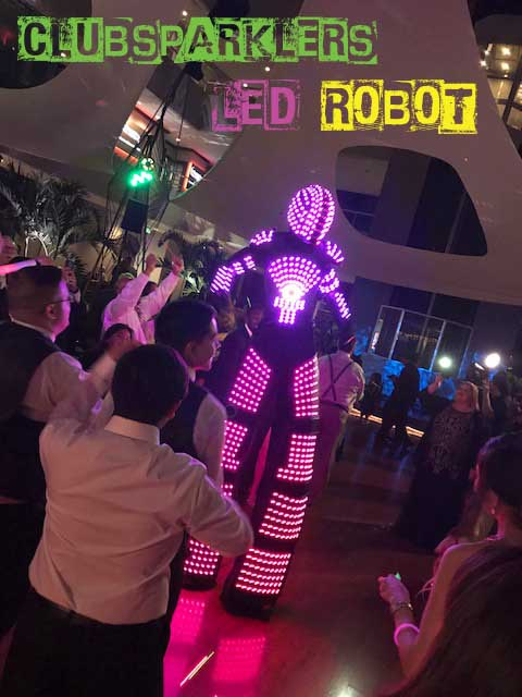 Led robot for events clubsparklers robot