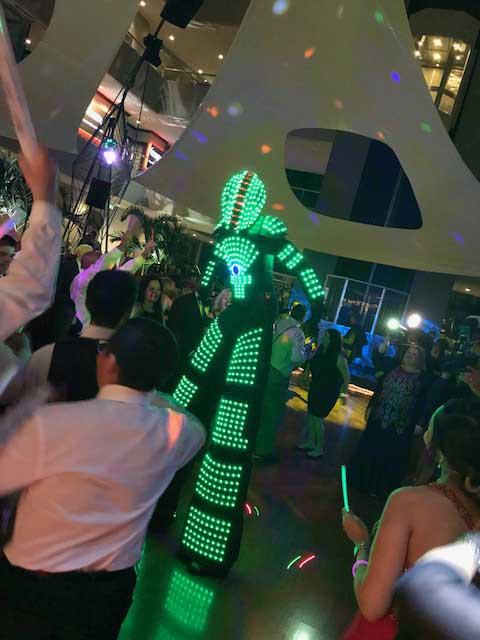 rent a led robot
